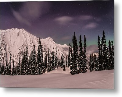 Fairy Meadows Northern Lights Metal Print by Ian Stotesbury