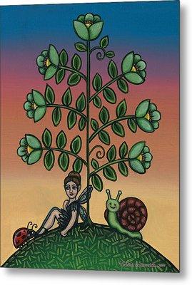 Fairy Series Tina Metal Print by Victoria De Almeida