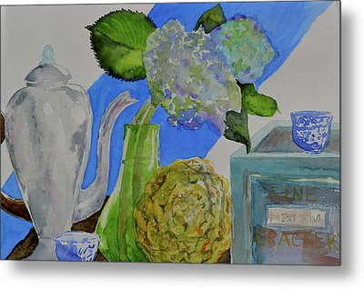 Metal Print featuring the painting Fairy Soda Fine Crackers by Beverley Harper Tinsley