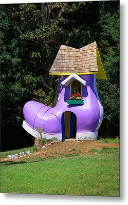 Fairy Tale Shoe House Metal Print by John Cardamone