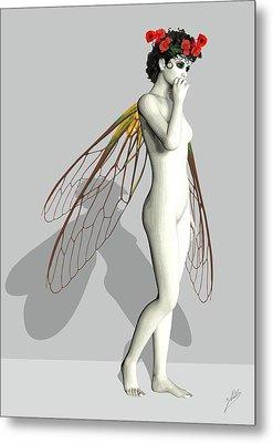 Fairy White  Metal Print