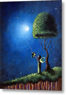 Fairy Wishes Original Art Painting Metal Print by Shawna Erback