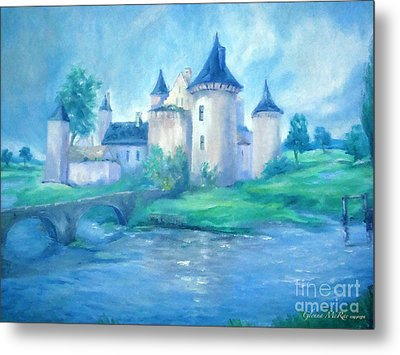 Fairytale Castle Where Dreams Come True Metal Print by Glenna McRae