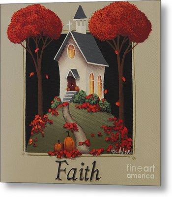 Faith Country Church Metal Print by Catherine Holman