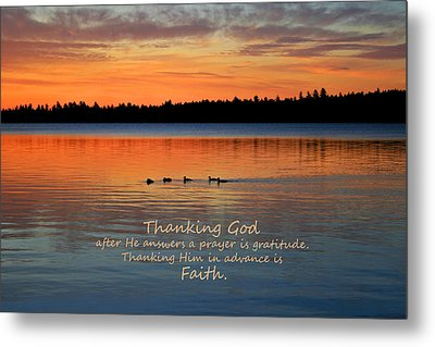 Faith In God Metal Print by Barbara West