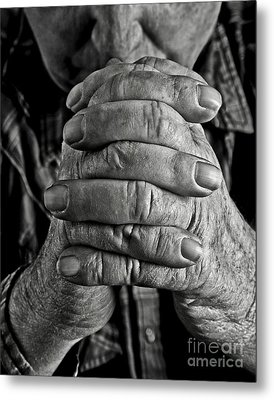 Faithful Hands Metal Print