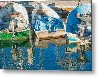 Faithful Working Boats Metal Print