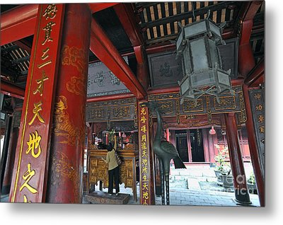 Faithfull In Temple Of Literature Metal Print by Sami Sarkis