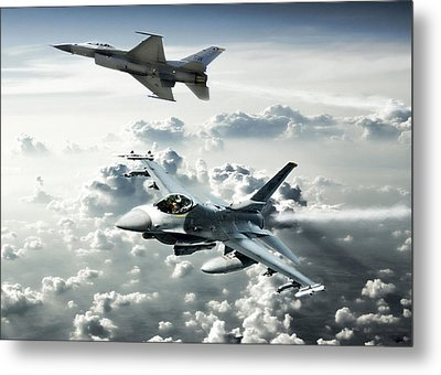 Falcon Element Metal Print by Peter Chilelli