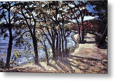 Fall Afternoon At Lake Walden Metal Print by Rita Brown