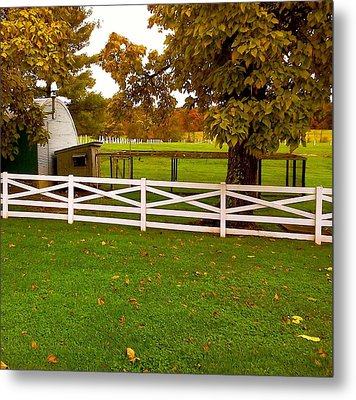 Fall At Eisenhower Farm Metal Print