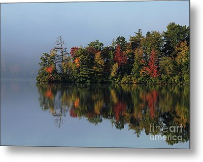 Fall At Heart Pond Metal Print by Kenny Glotfelty