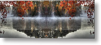 Fall At Lake Soddy Metal Print by Rebecca Hiatt