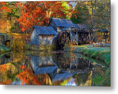 Fall At Mabry Mill Metal Print