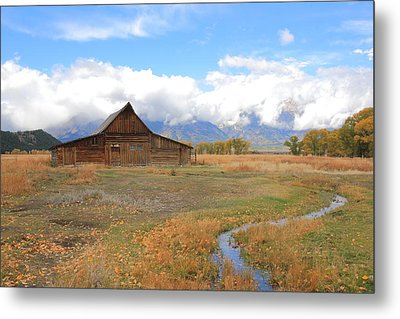 Fall At Moulton Barn Metal Print