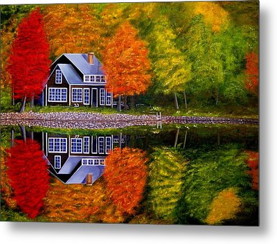 Fall At The Cabin Metal Print