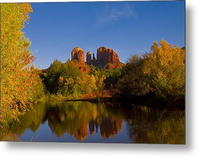 Fall At The Crossing Metal Print by Tom Kelly