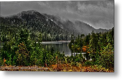 Metal Print featuring the photograph Fall At The Lake. by Timothy Latta
