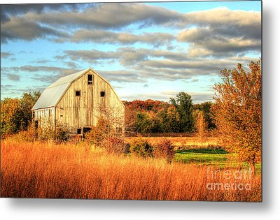 Fall Barn Beauty Metal Print by Thomas Danilovich