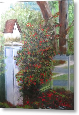 Metal Print featuring the painting Fall Berries by Sharon Schultz