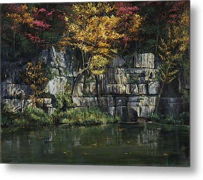 Fall Bluffs - Ozark Nat'l Scenic Rivers Metal Print