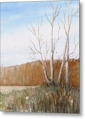 Metal Print featuring the painting Fall Clearing by Rebecca Davis