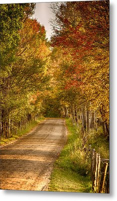 Metal Print featuring the photograph Fall Color Along A Peacham Vermont Backroad by Jeff Folger