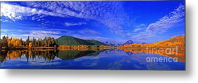 Metal Print featuring the photograph Fall Color Oxbow Bend Grand Tetons National Park Wyoming by Dave Welling