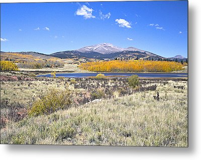 Metal Print featuring the photograph Fall Colors Fairplay Colorado by James Steele