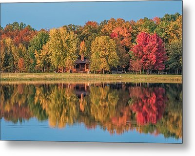 Fall Colors In Cabin Country Metal Print by Paul Freidlund
