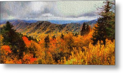 Fall Colors In The Smoky Mountains Metal Print