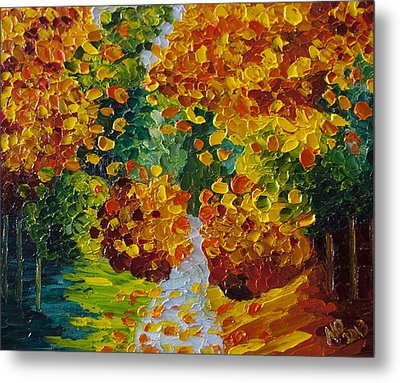 Fall Colors Metal Print by Natasha Petrosova