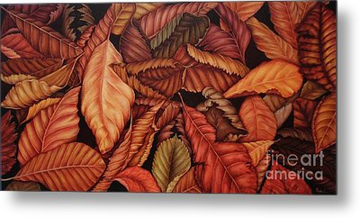 Metal Print featuring the painting Fall Colors by Paula L