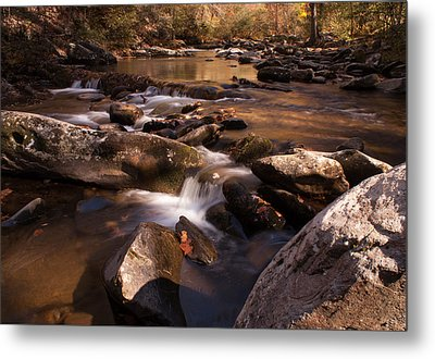 Fall Creek Metal Print by Rebecca Hiatt