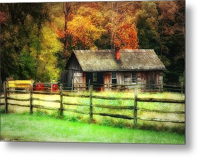 Fall Fenced In Metal Print by Mary Timman