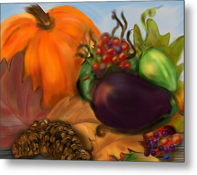 Fall Festival Metal Print by Christine Fournier