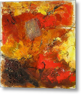 Fall Foliage Metal Print by Elise Palmigiani