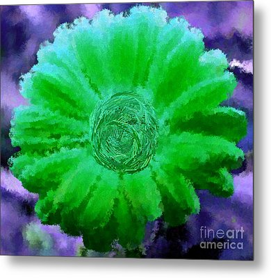 Fall For Me Purple Green Metal Print
