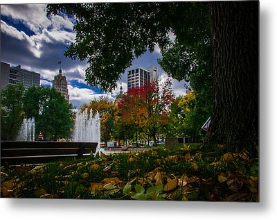 Fall Fort Wayne Skyline Metal Print by Gene Sherrill