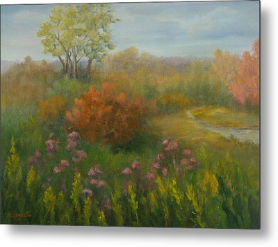 Fall In New England Metal Print by Pamela Allegretto