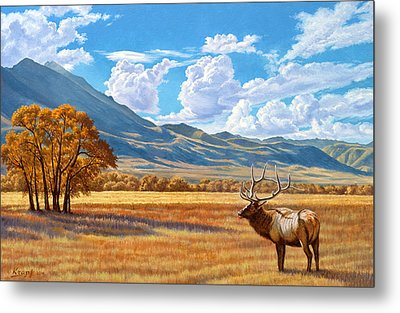 Fall In Paradise Valley Metal Print