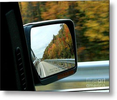 Fall In The Rearview Mirror Metal Print
