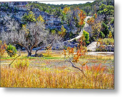 Fall In The Texas Hill Country Metal Print by Savannah Gibbs