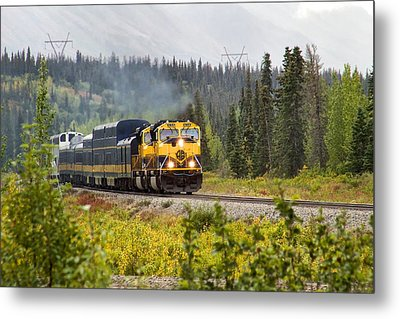 Metal Print featuring the photograph Fall Is Here In Alaska by Michael Rogers