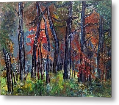 Metal Print featuring the painting Fall by Iya Carson