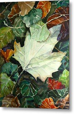 Fall Leaves Metal Print by Jennifer Apffel