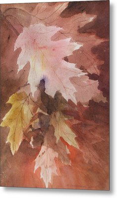 Metal Print featuring the painting Fall Leaves by Susan Crossman Buscho