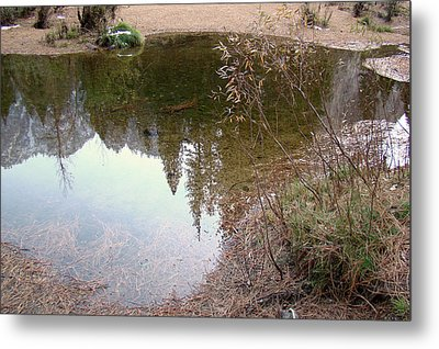 Fall Mirror Lake Reflections Metal Print