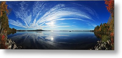 Fall Morning At Meddybemps Metal Print by ABeautifulSky Photography