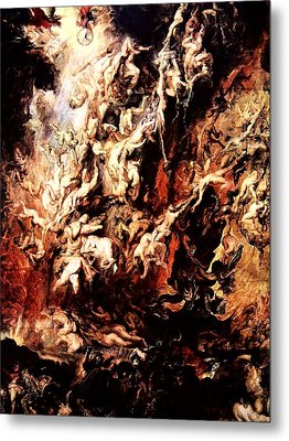 Fall Of The Rebel Angels Metal Print